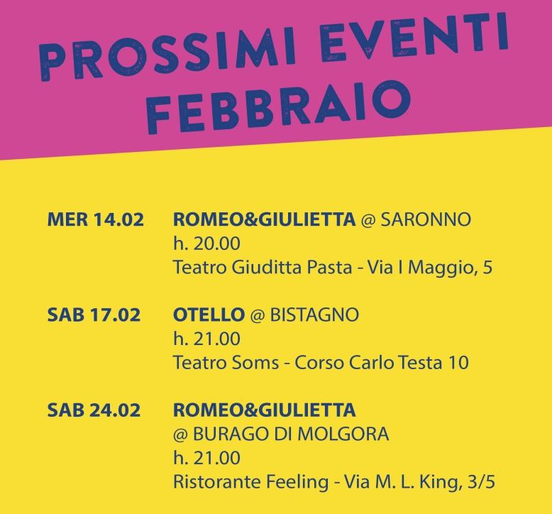 prossimi eventi - febbraio